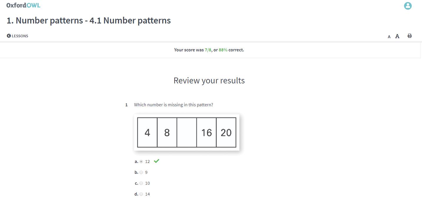 oxford maths student post test