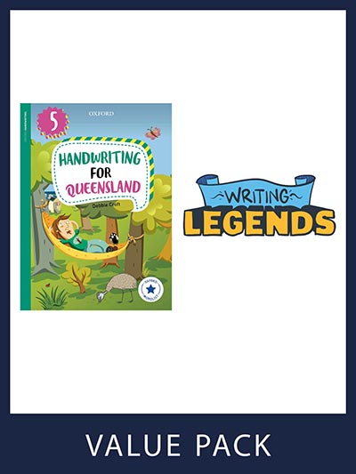 Oxford Handwriting for Queensland and Writing Legends Student Pack 5