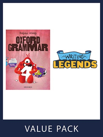 Oxford Grammar Student Book and Writing Legends Student Pack 4
