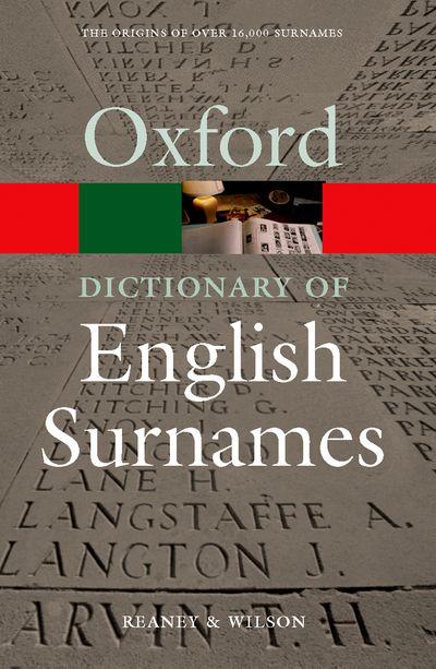 Oxford Dictionary of English Surnames 3E