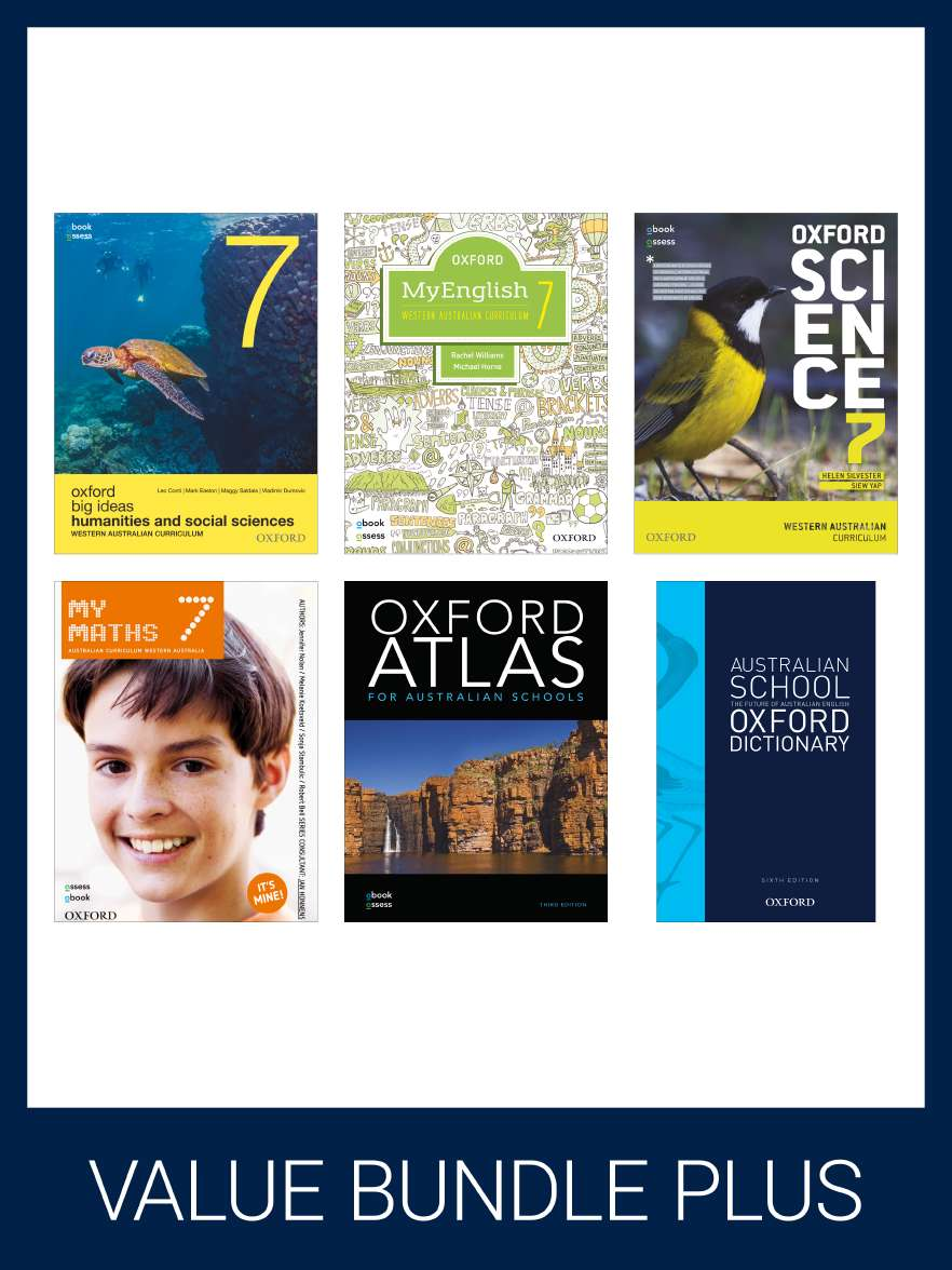 Oxford Value Bundle PLUS WESTERN AUSTRALIAN CURRICULUM YEAR 7 (print + digital)