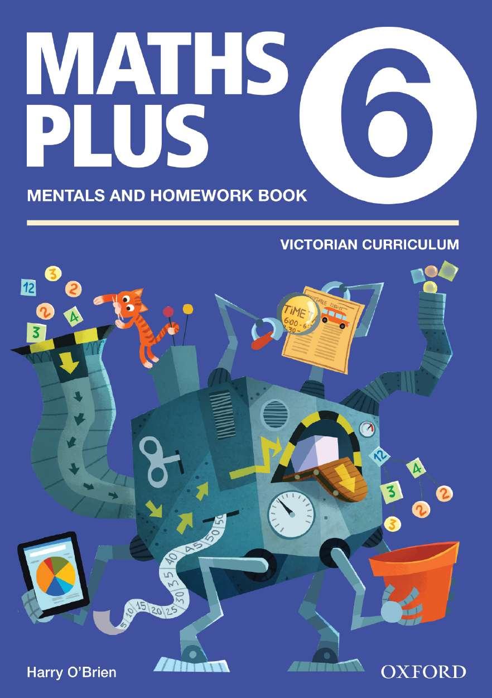 Maths Plus VIC Australian Curriculum Edition Mentals & Homework Book 6