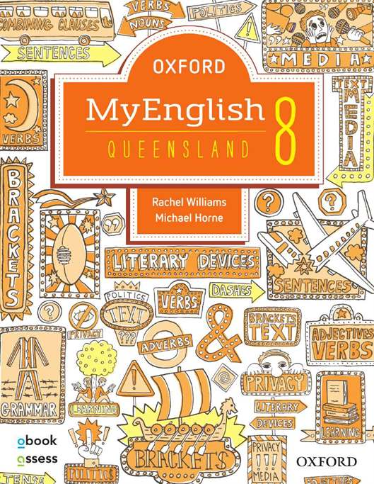 Oxford MyEnglish 8 for QLD Curriculum Student book + obook assess + Upskill