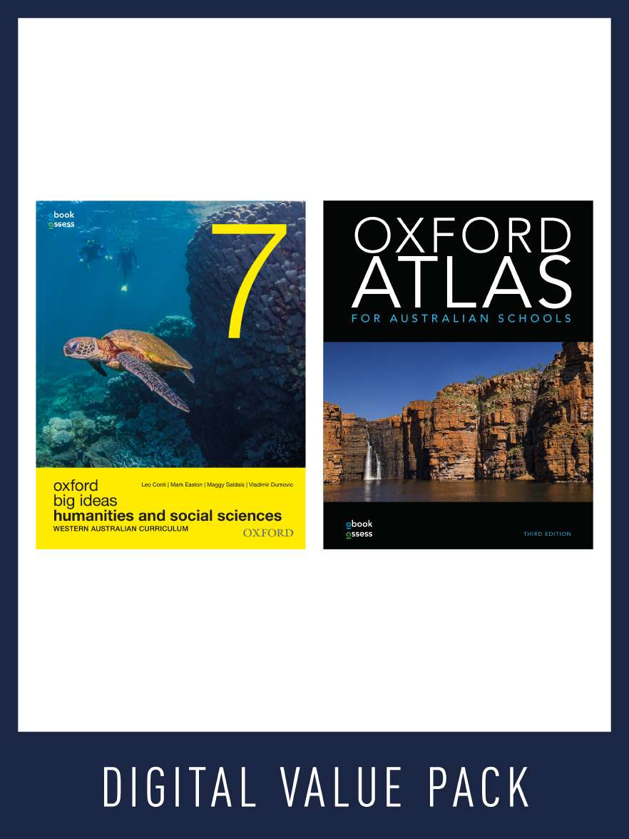 Oxford Big Ideas Humanities 7 West Aust. Curriculum + Atlas Value pack