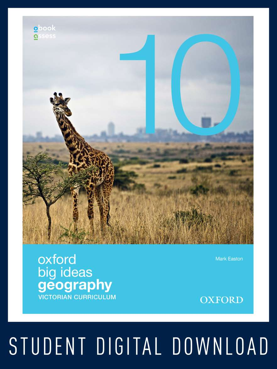 Oxford Big Ideas Geography 10 Victorian Curriculum obook assess (code card)