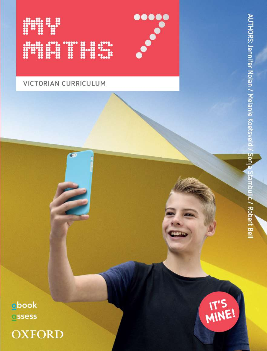 Oxford MyMaths 7 Victorian Curriculum Student book + obook assess