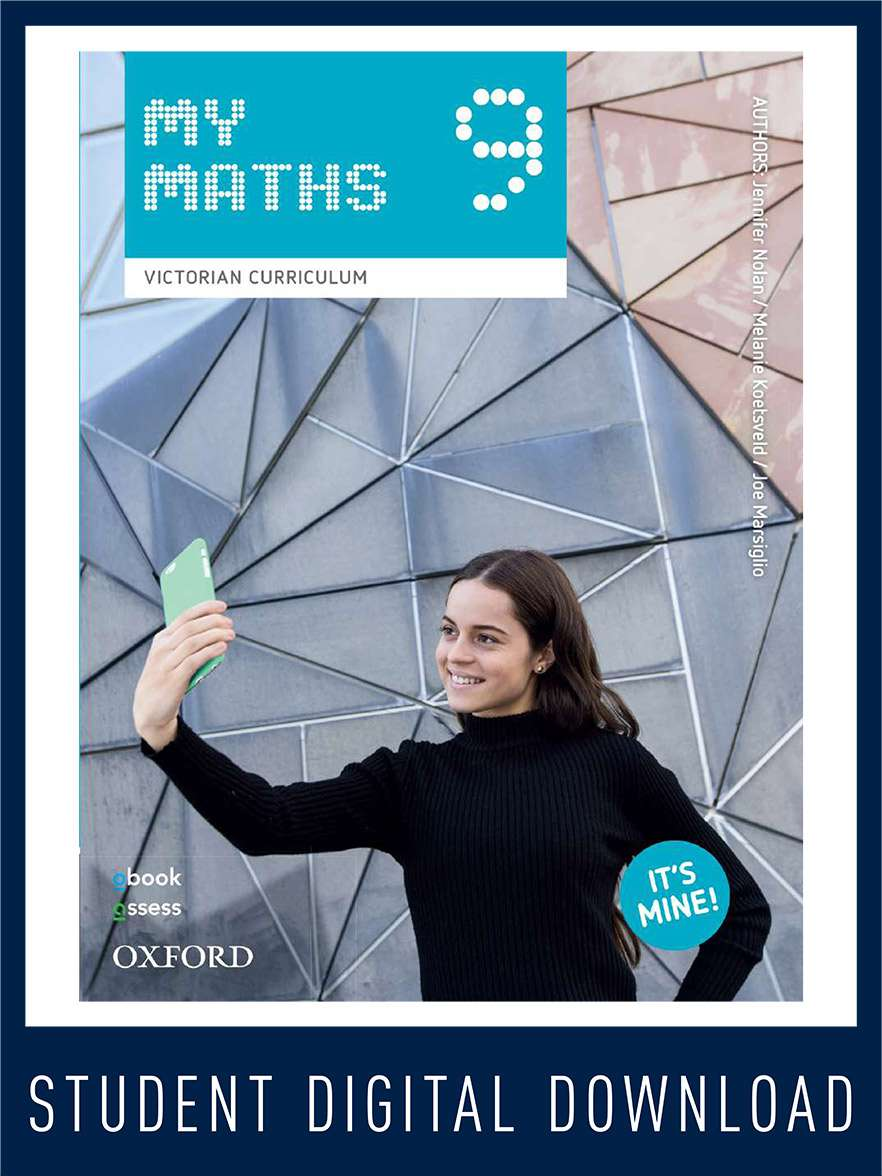 Oxford MyMaths 9 Victorian Curriculum Student obook assess