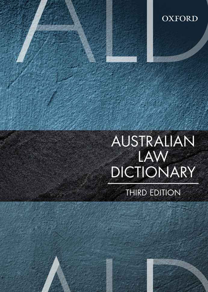 Australian Law Dictionary Oxford Ascend Student Resources