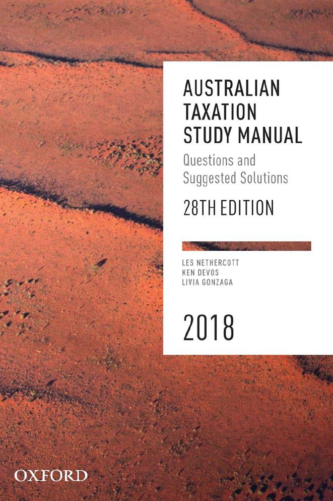 Australian Taxation Study Manual 2018 Oxford Ascend Student Resources