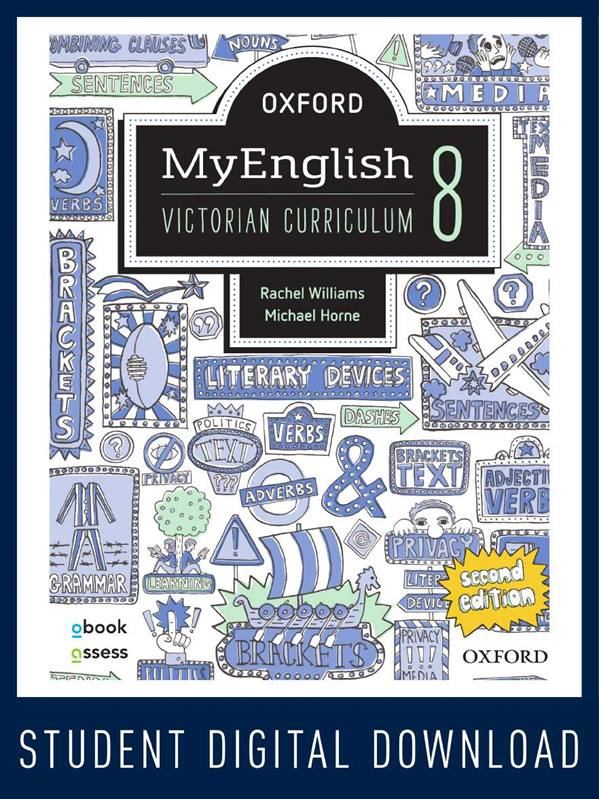 Oxford MyEnglish 8 VIC obook assess