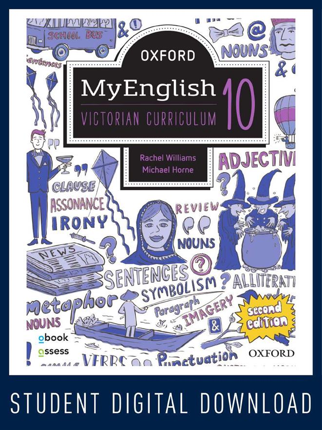 Oxford MyEnglish 10 VIC obook assess