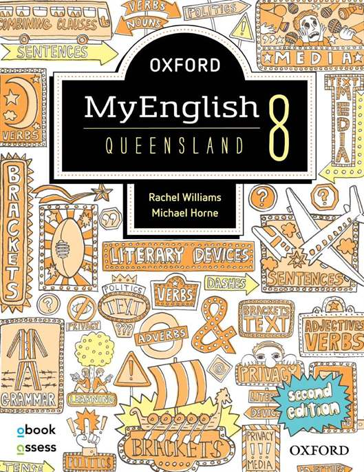 Oxford MyEnglish 8 QLD Student book + obook assess