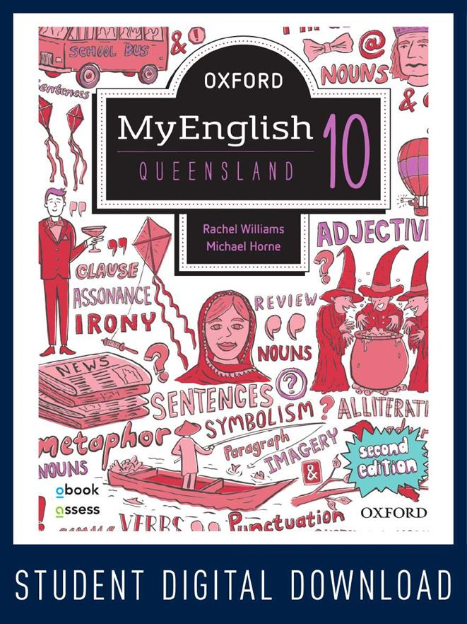 Oxford MyEnglish 10 QLD obook assess