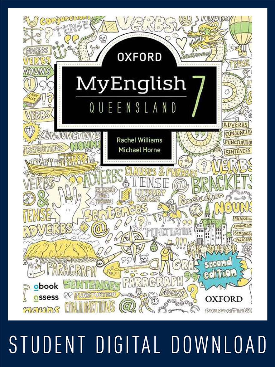 Oxford MyEnglish 7 QLD obook assess MULTI
