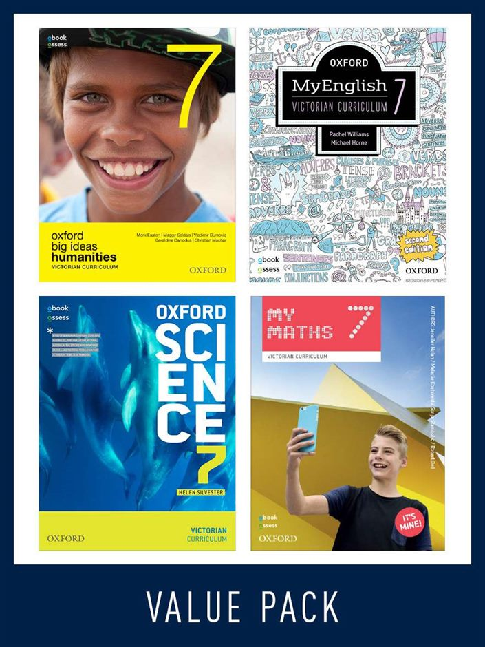 Oxford Value Pack Victorian Curriculum Year 7 2020 edition (print+digital)