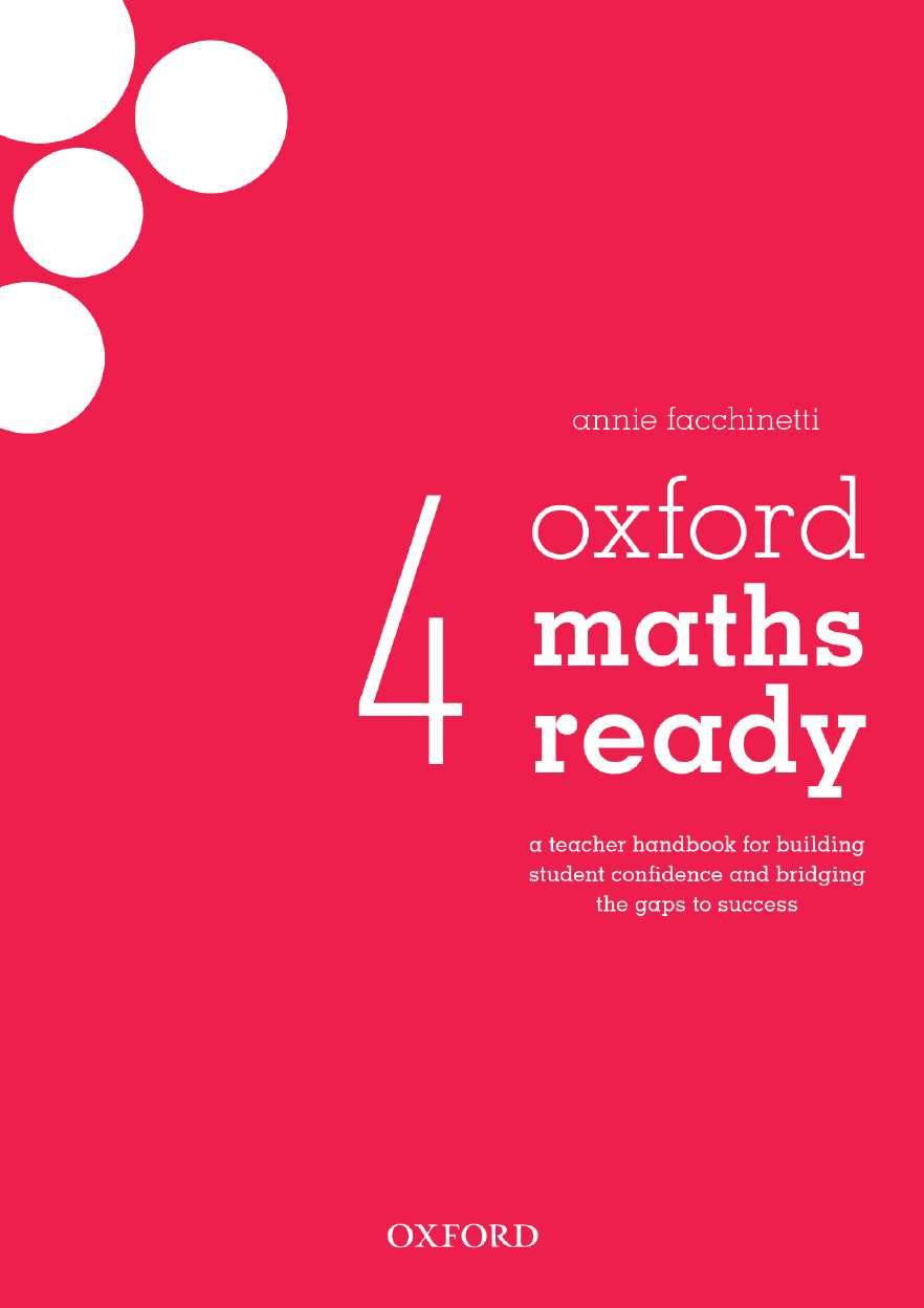 Oxford Maths Ready Teacher Handbook Year 4