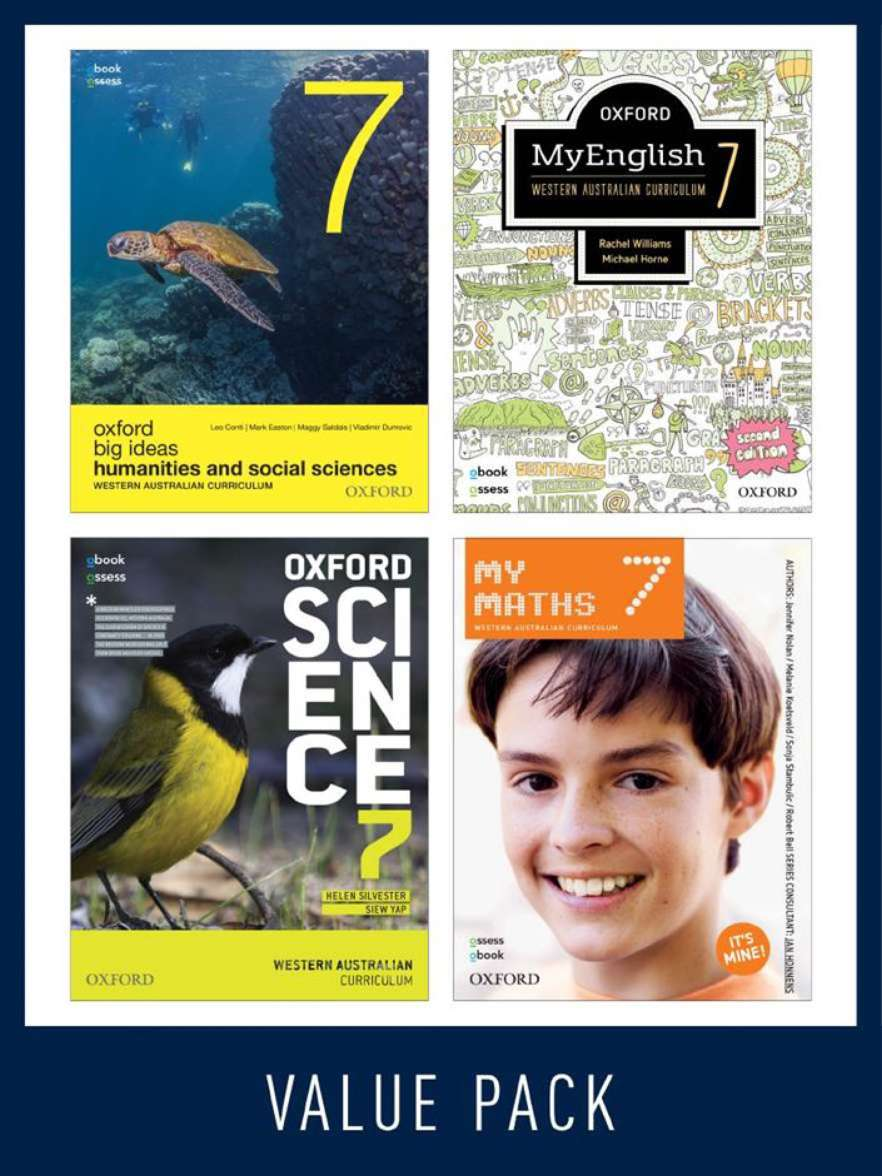 Oxford Value Pack Western Australian Curriculum Year 7 2021 (print+digital)