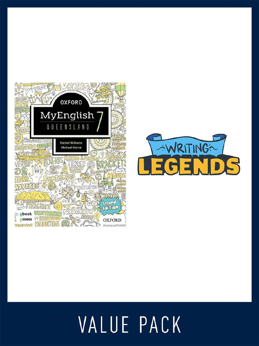 Oxford MyEnglish for Queensland and Writing Legends Student Pack 7