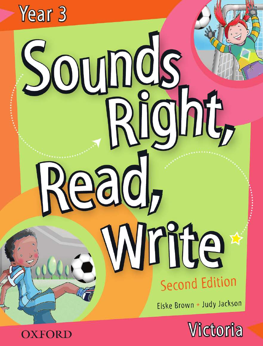 Sounds Right, Read, Write Victoria Book 3