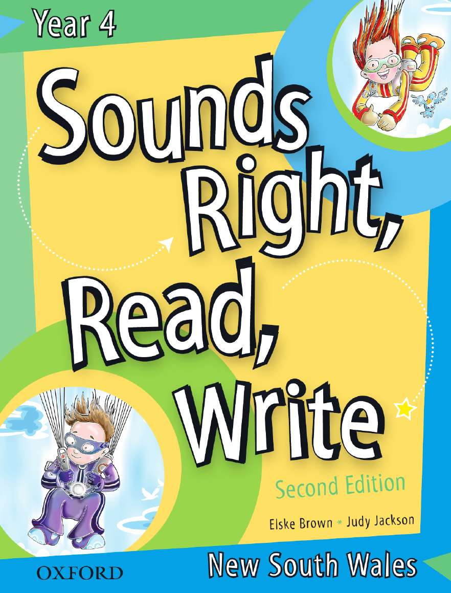 Sounds Right, Read, Write New South Wales Book 4