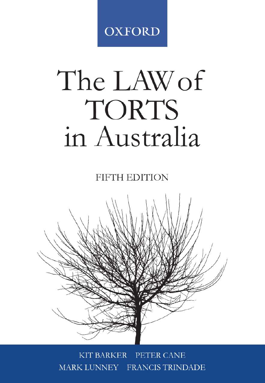 The Law of Torts in Australia e-book