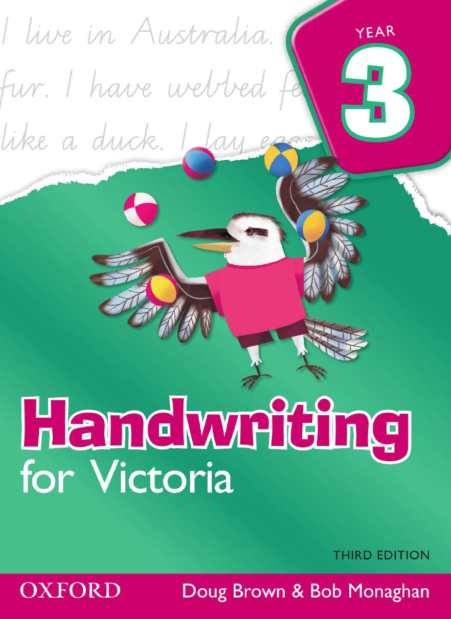 Handwriting for Victoria Year 3