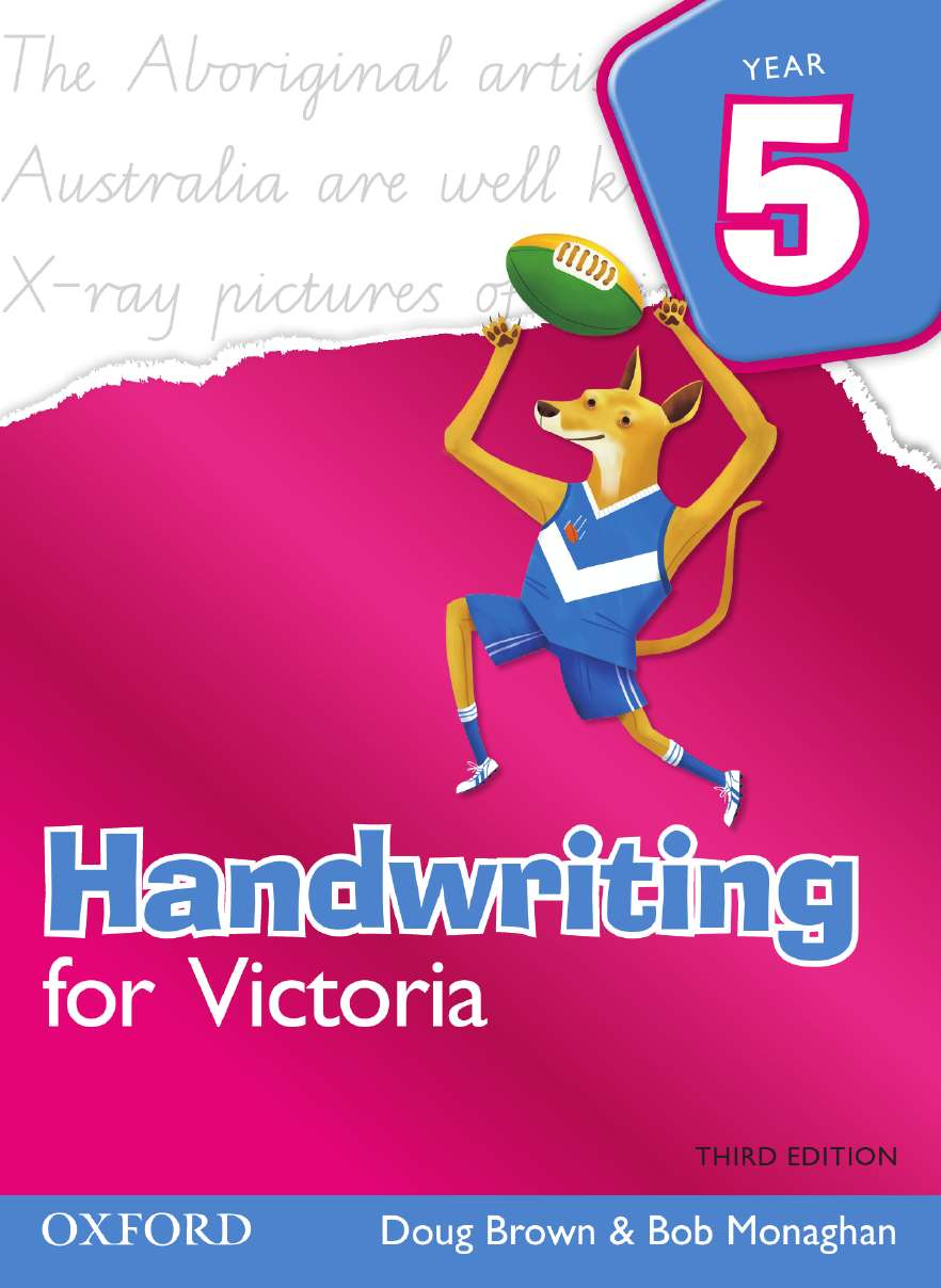 Handwriting for Victoria Year 5