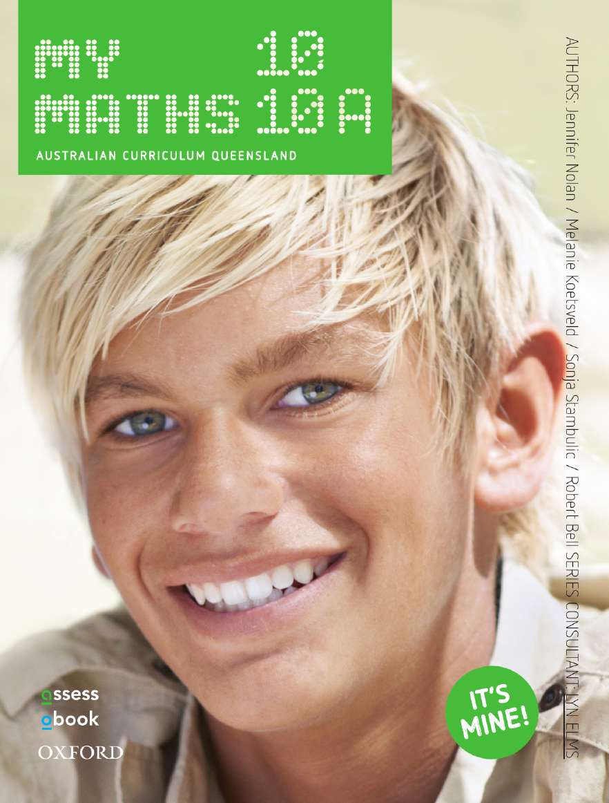 Oxford MyMaths 10 Australian Curriculum Queensland Student book + obook assess