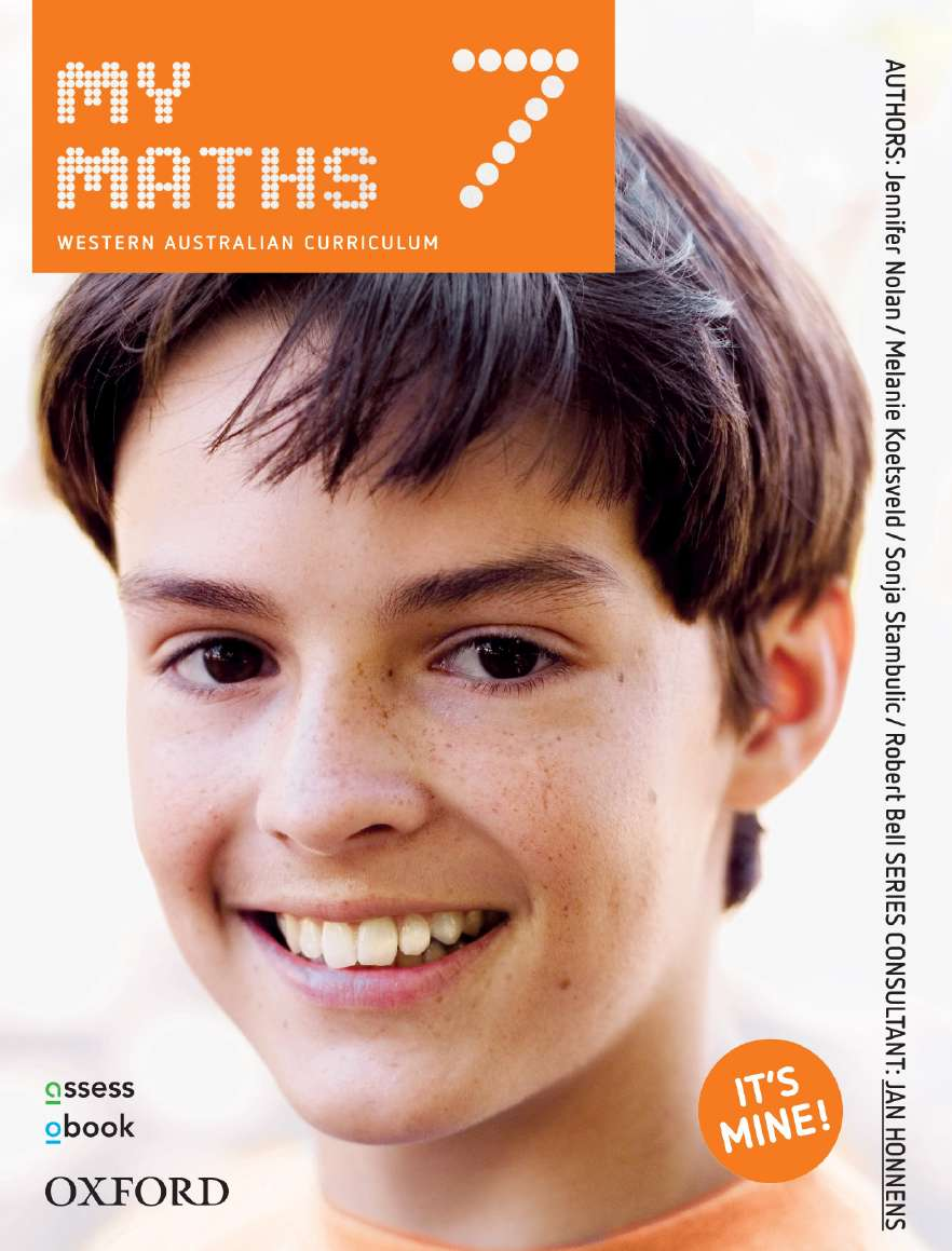 Oxford MyMaths 7 Western Australian Curriculum Student book + obook assess