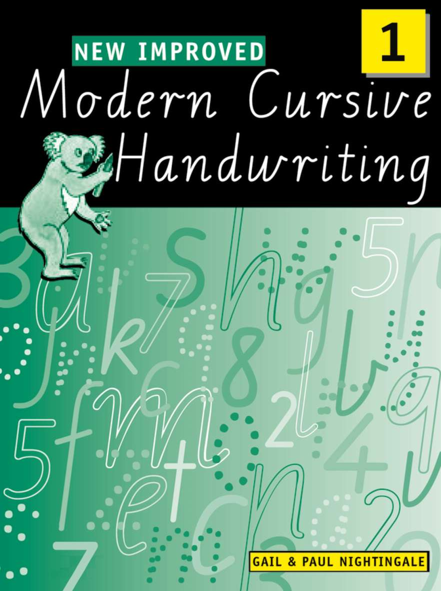 New Improved Modern Cursive Handwriting Victoria Year 1